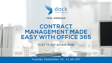 Contract Management Made Easy with Office 365 - Webinar Banner-1