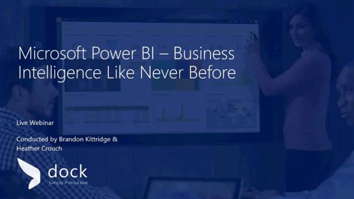 Powerbi webinar - Overview