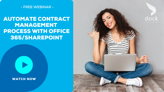 11. Webinar Banner_Automate Contract Management Process with Office 365_SharePoint-1