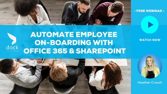14. Webinar Banner_Automate Employee On-boarding With Office 365 & SharePoint-1