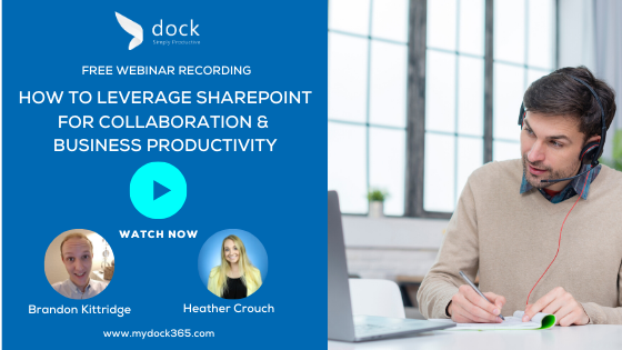 2. Webinar banner_How to Leverage SharePoint for Collaboration & Business Productivity