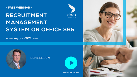 23. Webinar Banner- Recruitment Management System On Office 365-2