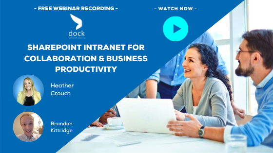 5. Webinar Banner_SharePoint Intranet for Collaboration & Business Productivity-5