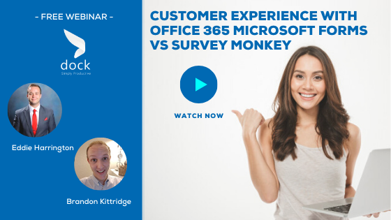 8. Webinar Banner_Customer Experience with Office 365 Microsoft Forms vs Survey Monkey-2