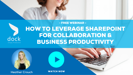 9. Webinar Banner_How to Leverage SharePoint for Collaboration & Business Productivity