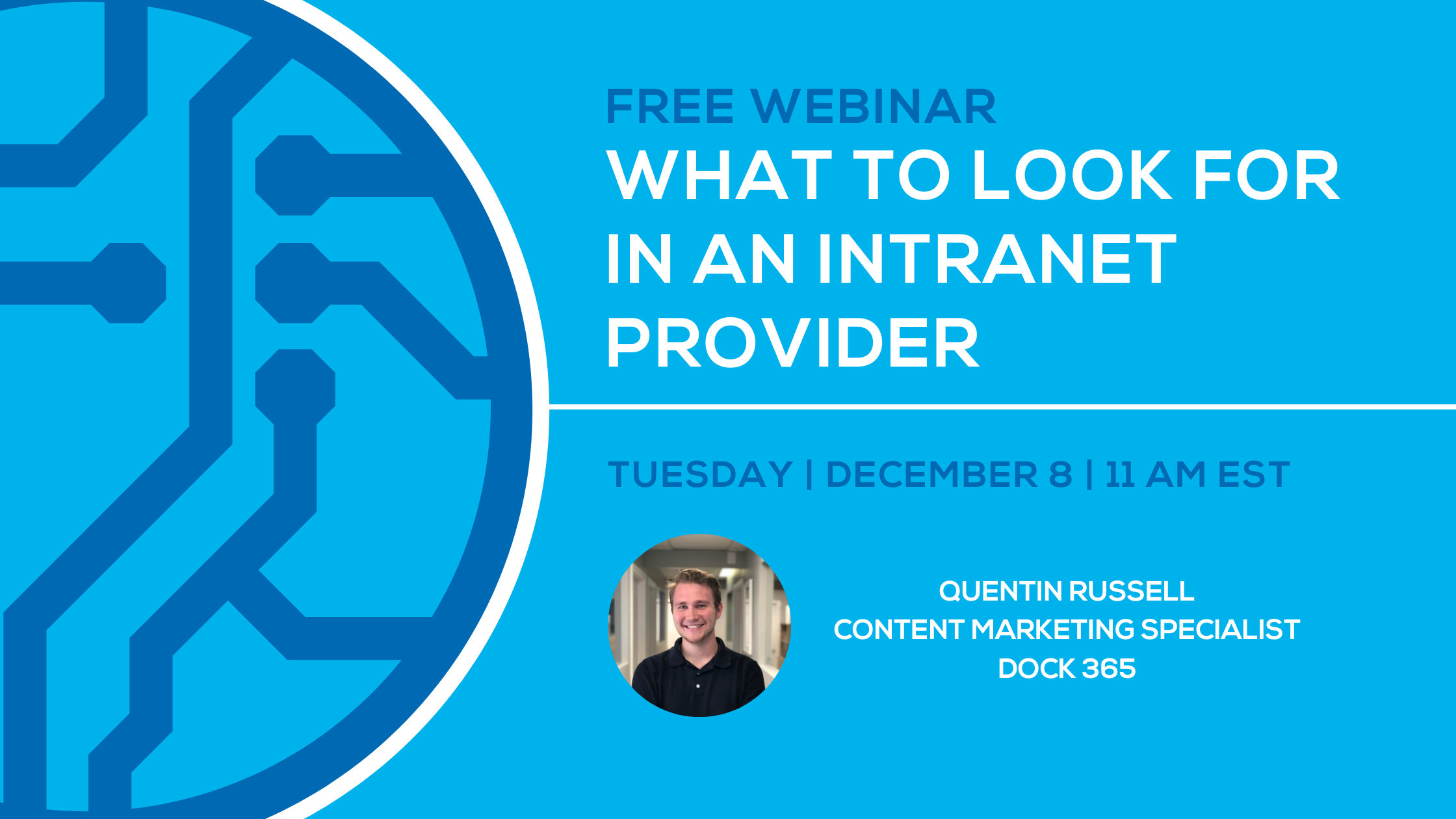 Dock 365 Webinar - What to look for in an intranet provider