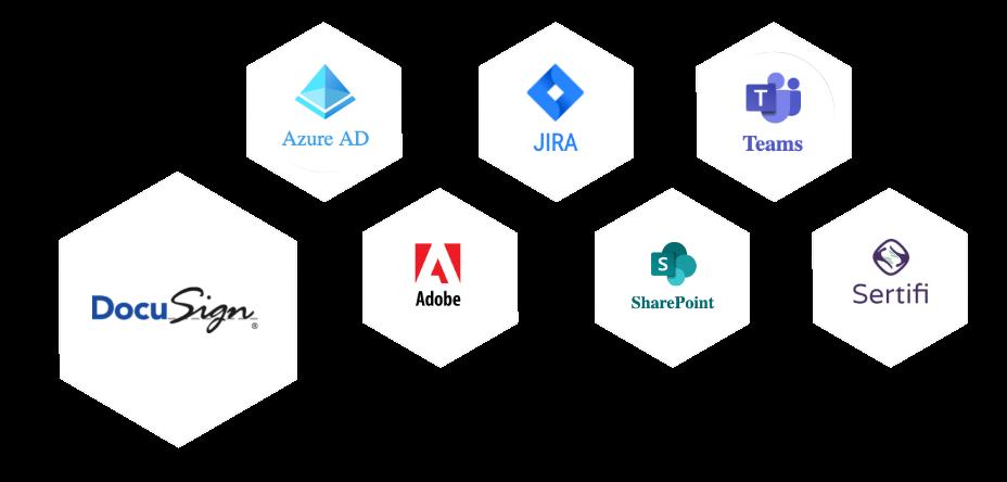 Integration icon hexagons