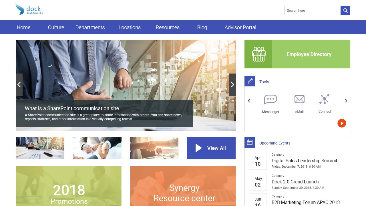 Sharepoint Intranet Portal Dock 365