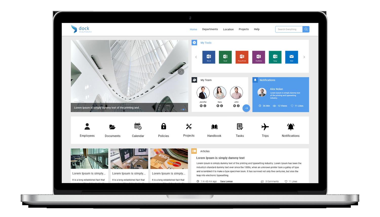 Dock365-intranet-portal-laptop